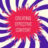 Texte d'écriture de Word créant le contenu efficace Concept d'affaires pour convivial instructif de données de valeur illustration de vecteur