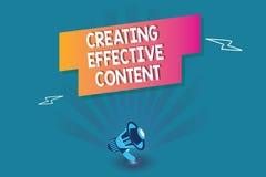 Texte d'écriture de Word créant le contenu efficace Concept d'affaires pour convivial instructif de données de valeur illustration libre de droits