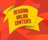 Texte d'écriture de Word lisant le contenu en ligne Le concept d'affaires pour extraire la signification à partir d'un texte numé illustration de vecteur