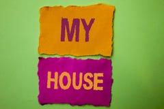 Texte d'écriture ma Chambre Domaine résidentiel de ménage de propriété de maison de logement de signification de concept nouveau  Images stock