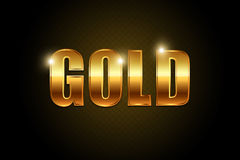 Texte d'or Image stock