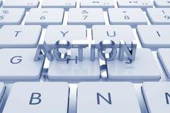 Texte d'Actoion sur le clavier calculé illustration libre de droits