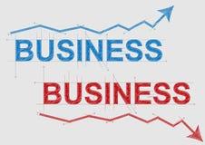 Texte d'affaires Image libre de droits