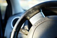 Texte d'airbag de volant de voiture Photos stock