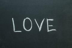 Texte d'amour écrit sur le tableau Images libres de droits