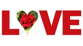 Texte d'amour Images libres de droits