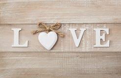 Texte d'amour Photographie stock libre de droits