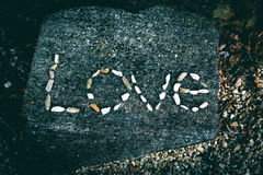 Texte d'amour Photos libres de droits