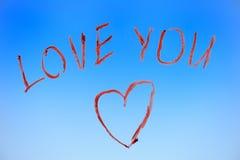 Texte d'amour Photo libre de droits