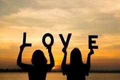 Texte d'amour disponible Lever de soleil de fond Images stock
