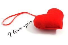texte d'amour du coeur i vous Photo stock