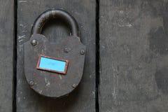 Texte d'amour et vieux cadenas Photographie stock libre de droits