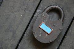 Texte d'amour et vieux cadenas Image libre de droits