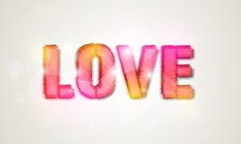 Texte d'amour pour la célébration de Saint-Valentin Images stock