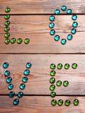 Texte d'amour sur un fond en bois Image stock