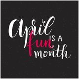 Texte d'April Fools Day Photo stock