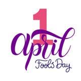 Texte d'April Fools Day illustration libre de droits