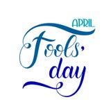 Texte d'April Fools Day Photos stock
