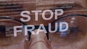 Texte d'arrêt sur le fond du promoteur femelle banque de vidéos