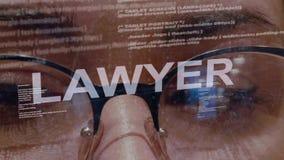 Texte d'avocat sur le programmateur de logiciel femelle banque de vidéos