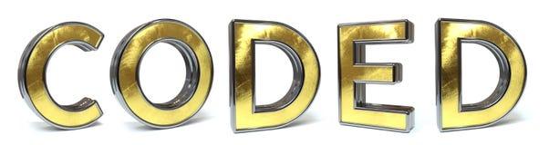 Texte d'or codé Photo stock