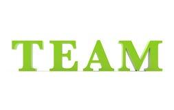 Texte 3D d'équipe Image libre de droits