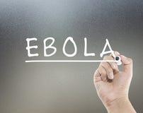 Texte d'Ebola Images libres de droits