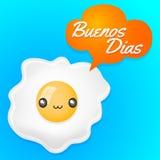 Texte d'Espagnol bonjour de Buenos Dias- illustration de vecteur
