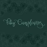 Texte d'Espagnol de Feliz Cumpleanos Happy Birthday Photo stock