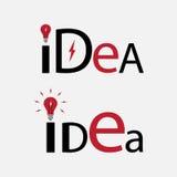 Texte d'idée Élément pour le logo illustration de vecteur