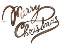 Texte d'isolement de Joyeux Noël Photographie stock libre de droits