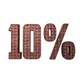 Texte 3D métallique de 10% Photographie stock libre de droits