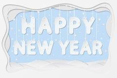 Texte d'an neuf heureux Image libre de droits
