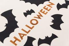 Texte d'oeil d'un caractère pour le logo de Halloween manuscrit sur le fond blanc, Photographie stock libre de droits