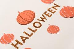 Texte d'oeil d'un caractère pour le logo de Halloween manuscrit sur le fond blanc, Images libres de droits