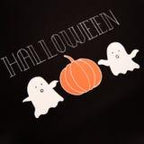Texte d'oeil d'un caractère pour le logo de Halloween manuscrit sur le fond noir, Photographie stock libre de droits