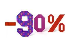 Texte d'origami de la vente au rabais 90 pour cent Photo libre de droits