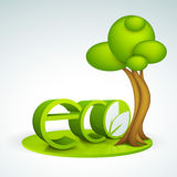 texte 3D pour le concept d'écologie Photos stock