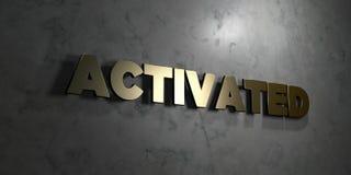 - Texte d'or sur le fond noir - 3D activé a rendu la photo courante gratuite de redevance Photo stock