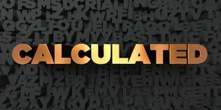 - Texte d'or sur le fond noir - 3D calculé a rendu la photo courante gratuite de redevance illustration stock