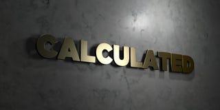 - Texte d'or sur le fond noir - 3D calculé a rendu la photo courante gratuite de redevance illustration libre de droits
