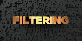 - Texte d'or sur le fond noir - 3D de filtrage a rendu la photo courante gratuite de redevance illustration de vecteur