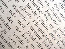 Texte d'un vieux livre Photo stock