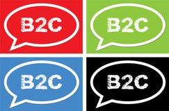 Texte de B2C, sur le signe de bulle de la parole d'ellipse Photo stock