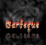 Texte de barbecue sur l'incendie Photographie stock libre de droits