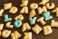 texte de biscuit Image libre de droits