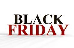 Texte de Black Friday, illustration 3D Photos libres de droits