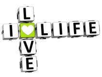 texte de bloc de mots croisé de vie amoureuse de 3D I illustration libre de droits