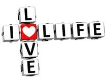 texte de bloc de mots croisé de vie amoureuse de 3D I illustration de vecteur