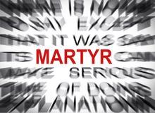 Texte de Blured avec le foyer sur le MARTYRE photos libres de droits